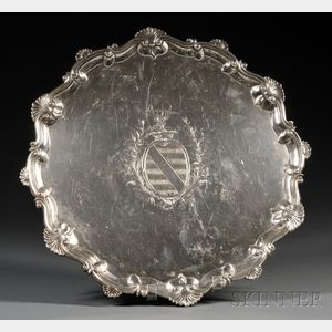 Large George III Silver Footed Salver