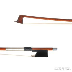 English Silver-mounted Violin Bow, Hill