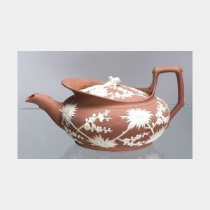 Wedgwood Rosso Antico Teapot and Cover