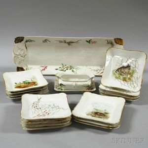 Haviland Hand-painted Fish Set