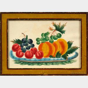 American School, 19th Century    Theorem: Plate of Fruit.