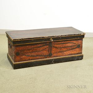 Paint-decorated Six-board Chest
