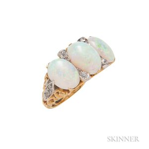 Antique 18kt Gold and Opal Ring, Tiffany & Co.