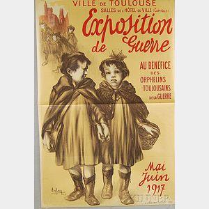 Auguste Auglay Exposition de Guerre au Bénéfice des Orphelins Toulousains
