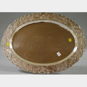 Continental Silver Plated Oval Tray