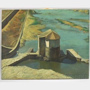 Alvin Ross (American, 1920-1975)      Old Mill at Cordova