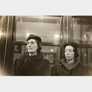 Walker Evans (American, 1903-1975)      Subway Portrait, New York