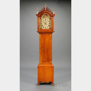 Federal Maple Tall Clock by Timothy Chandler