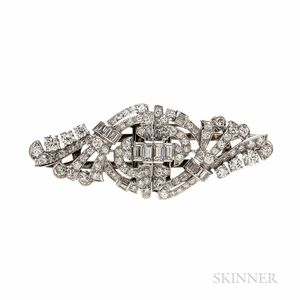 Platinum and Diamond Dress Clips