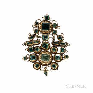 Antique Gold Gem-set Pendant