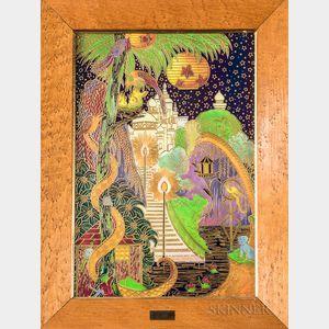 Modern Wedgwood Fairyland Lustre Plaque