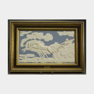 Wedgwood Solid Light Blue Jasper Plaque of The Fall of Phaeton