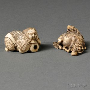 Two Ivory Netsukes
