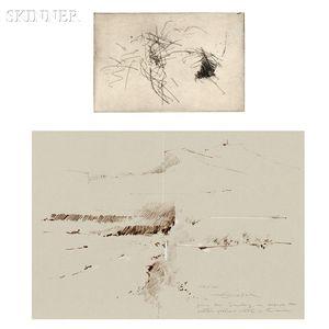 Fernando Zóbel (Filipino/Spanish, 1924-1987)      Two Works:  Untitled (Landscape)