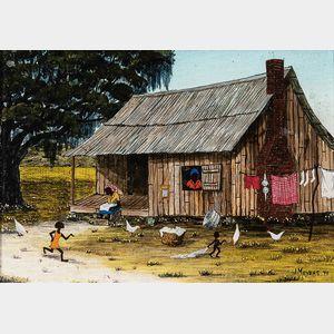 Jack Meyers (American, 1930-1994)      Cabin Scene