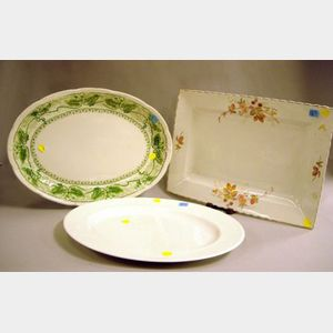 Three Assorted English Ceramic Serving Platters