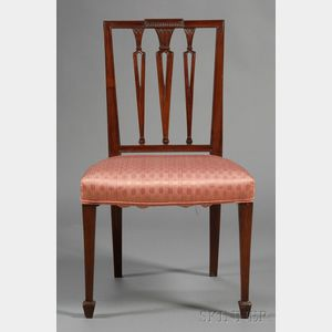 Federal Carved Mahogany Square-back Side Chair