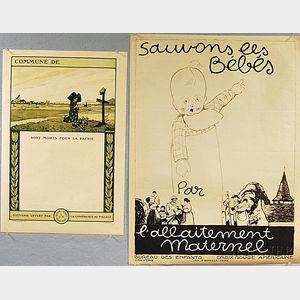 Two French WWI Lithograph Posters