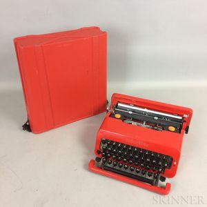 Olivetti Valentine Cased Typewriter.