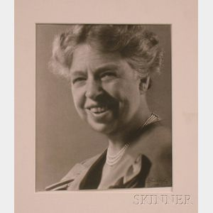 Lotte Jacobi Black and White Photograph of Eleanor Roosevelt