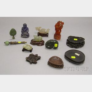 Seven Hardstone Items