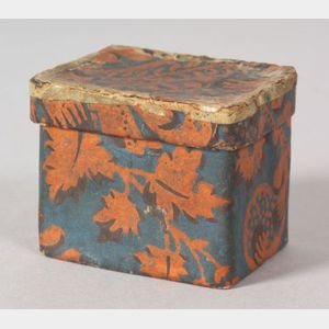 Miniature Wallpaper Covered Box