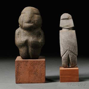 Two Mezcala Carved Stone Figures