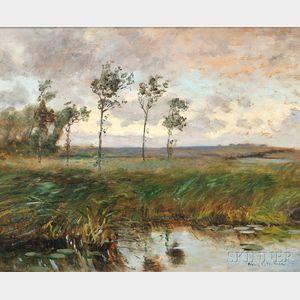 Frank Crawford (Francis) Penfold (American, 1849-1921)      Marsh Landscape