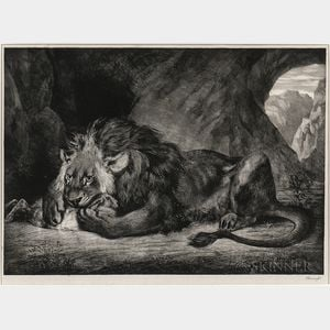 Eugène Delacroix (French, 1798-1863)      Lion de L'Atlas