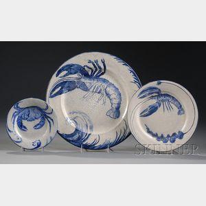 Three Pieces of Dedham Pottery