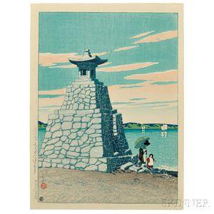 Kawase Hasui (1883-1957), Hakozaki in Chikuzen
