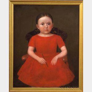 Deacon Robert Peckham (1785-1877)    Portrait of Frances Adelia Chaffin (1848-1851).