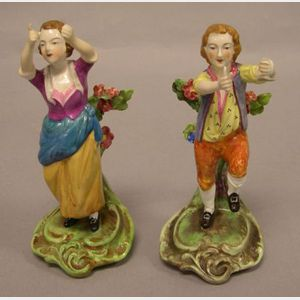 Two Copeland Spode Eighteenth Century Style Ceramic Figures