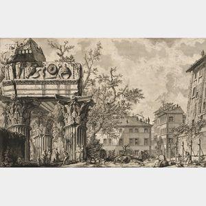 Giovanni Battista Piranesi (Italian, 1720-1778)      Veduta del Tempio di Giove Tonante