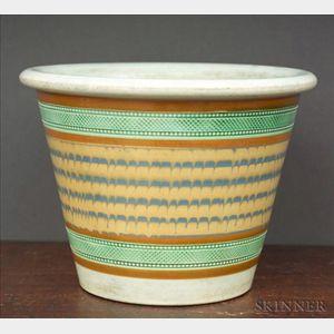 Mochaware Flower Pot