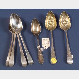 Six George III Silver Tablespoons