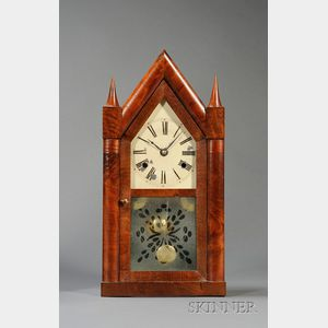 Mahogany Steeple Clock by Chauncey Jerome