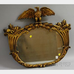 Federal-style Gilt-gesso Mirror with Eagle Crest