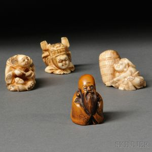 Four Ivory Netsukes