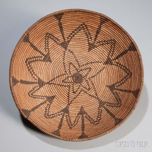 Yavapai Coiled Basketry Bowl