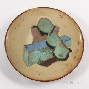 Chris Gustin (American, b. 1952) Studio Pottery Charger