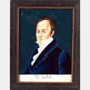 Daniel Webster Eglomise Portrait