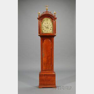 Federal Cherry Tall Clock by Joseph Mulliken