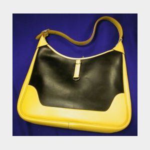 Leather and Amazonia Rubber Handbag