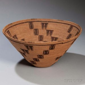 Panamint Coiled Basketry Bowl