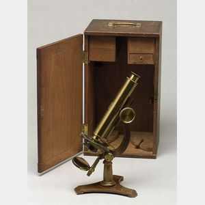 Compound Monocular Microscope by James W. Queen & Co.
