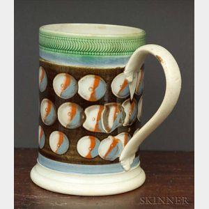 Mochaware Pint Mug with Cat's-eye Decoration