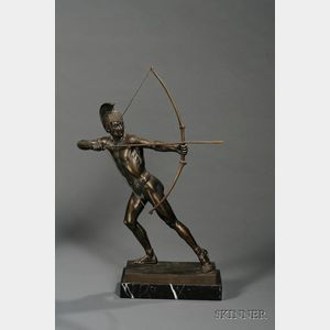 Schmidt-Hofer (German, 20th Century)       Bronze Sculpture of a Spartan Archer