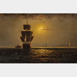 Elisha Taylor Baker (American, 1827-1890)      Off Huntington Light