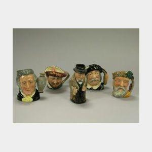 Five Royal Doulton Ceramic Toby Jugs